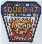 Philadelphia Fire Department Unit Patch Squad 47