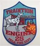 Philadelphia Fire Department Unit Patch Engine 25