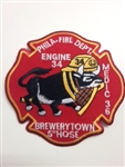 Philadelphia Fire Department Unit Patch Engine 34 Medic 36