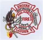 Philadelphia Fire Department Unit Patch Engine 1 Ladder 5