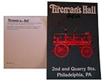 Postcard Fireman's Hall 1903 Cannon Wagon