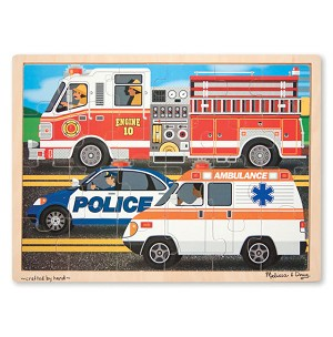 Melissa and Doug Race to the Rescue 24 Piece Wooden Jigsaw Puzzle