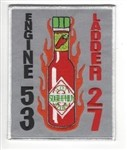 Philadelphia Fire Department  Patch Engine 53 Ladder 27 Hot Stuff