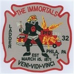 Philadelphia Fire Department Unit Patch Ladder 32