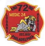 Philadelphia Fire Department  Patch Engine 72 Medic 24