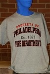 Property of Philadelphia Fire Department T Shirt
