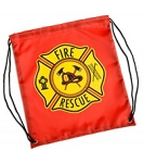 Firefighter Drawstring Backpack Red