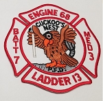 Philadelphia Fire Department  Patch Engine 68 Ladder 13  Medic 3 Battalion 7