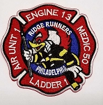 Philadelphia Fire Department Engine 13 Ladder 1 Air Unit 1, Medic 50
