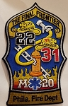 Philadelphia Fire Department Unit Patch Engine 22 Ladder 31