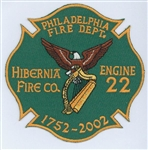 Philadelphia Fire Department Unit Patch Engine 22