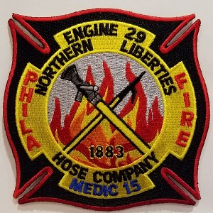 Philadelphia Fire Department  Patch Engine 29 Medic 15 Northern Liberties Hose Company