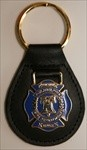 Philadelphia Fire Department Leather Key Ring