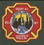 Philadelphia Fire Department Unit Patch Squrt 43