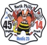 Philadelphia Fire Department Unit Patch Engine 45 Ladder 14