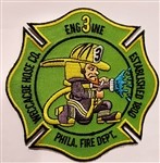 Philadelphia Fire Department Unit Patch Engine 3 Weccacoe Hose Co